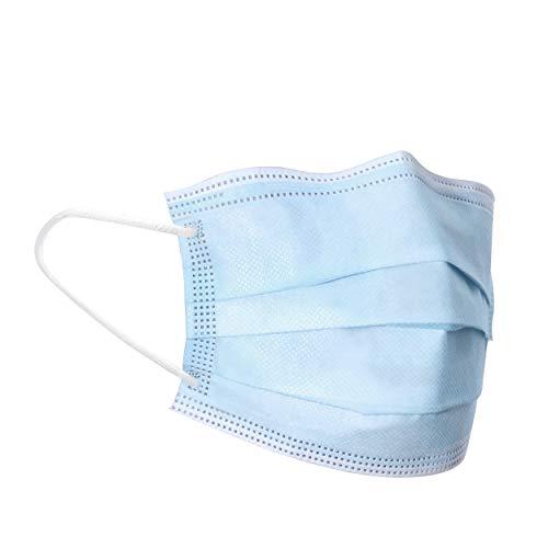 50 x Einweg Mundschutz Behelfs Mund Nasen Maske 3-lagig