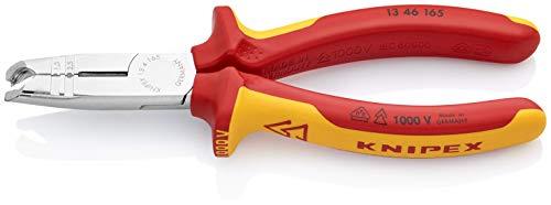 KNIPEX 13 46 165 Abmantelungszange verchromt isoliert mit Mehrkomponenten-Hüllen, VDE-geprüft 165 mm