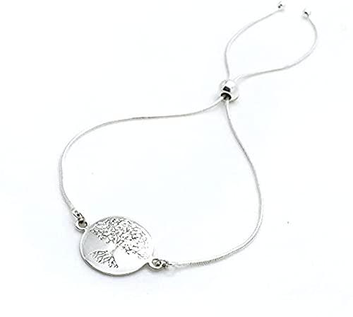 Pulsera de plata fina del árbol de la vida, pulsera con colgante simple y delicado árbol de la vida, joyería minimalista, pulsera de abalorios, With Gift Box,