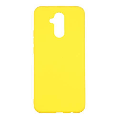 cuzz Custodia Huawei Mate 20 Lite+{Film di Vetro temperato}Silicone TPU Cover Morbida Protettiva Custodia Ultra Sottile Leggero Cover-Giallo