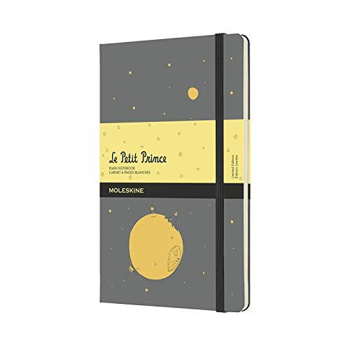 Moleskine El Principito - Cuaderno con páginas blancas, tamaño grande 13 x 21 cm, color gris piedra