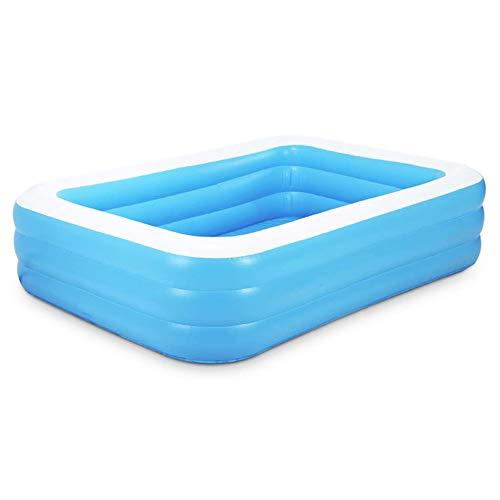 QASIMO Piscine Gonflable rectangulaire Bleue épaisse en PVC 128 * 85 * 45 cm (128 CM)