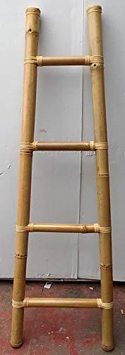 Marblechic - Scala in Bamboo cm 50/33x161 Etnico Porta Asciugamani Bagno Color Naturale bambù