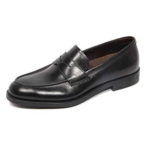 Fratelli Rossetti G3670 Mocassino Uomo One Black Leather Loafer Men...