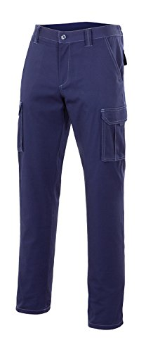 VELILLA 103001 - Pantalón Multibolsillos (Talla 46) Color Azul Marino