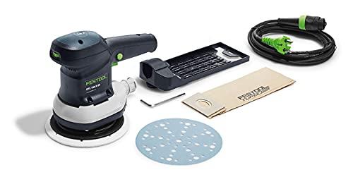 Festool ETS150/5EQ 310W-Lijadora excéntrica 575057, Negro y Verde, Mediano