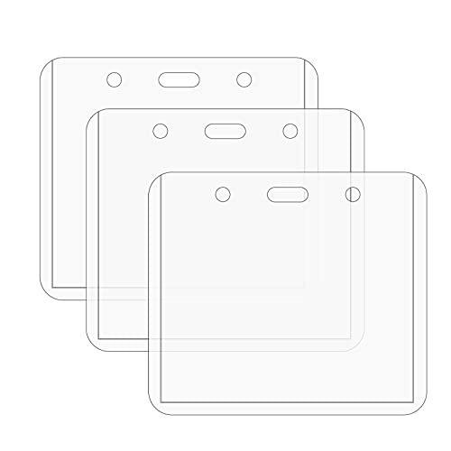 Fundas transparentes para tarjetas de PVC duro, fundas para tarjetas de comercio, protectores de tarjetas de carga superior, fundas, tarjetero para tarjetas de béisbol, tarjetas de crédito(3 Pcs)