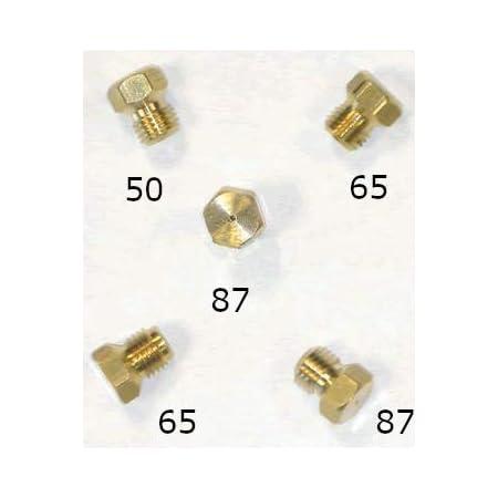 Kit de conversion GPL - 5 pièces - 1 x 50, 2 x 65, 2 x 87 - Filetage M6 x 0,75