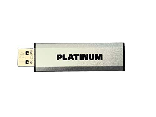 Platinum Double-Slider USB-Stick 32 GB USB 3.0 + Micro USB 2.0 Dual USB-Flash-Laufwerk - Zeitloser OTG Speicher-Stick in Silber