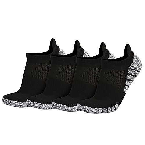JSDing 4 Pares Calcetines Tobilleros Deportivos Hombre Mujer Cortos Calcetines Algodon