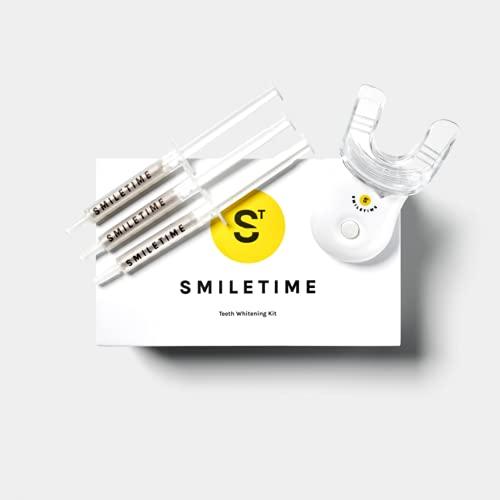 SmileTime Teeth Whitening Kit, Peroxide Free Teeth Whitening, LED Teeth Whitening Kit Safe for...