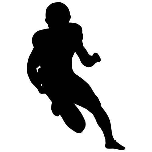 Football Wall Sticker Decal 7 - Decal Stickers and Mural for Kids Boys Girls Room and Bedroom. Sport Wall Art for Home Decor and Decoration - Football Player Silhouette Mural