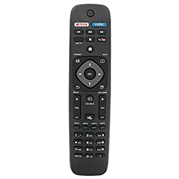 New Replacement Remote Control for URMT39JHG003 40PFL1708 40PFL1708/F7 49PFL4609/F7 50PFL5922/F7 55PFL5602/F7 65PFL5602/F7 Philips Smart TV
