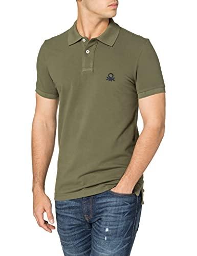 United Colors of Benetton Maglia Polo M/M 3089J3178 Camisa, Verde Militar 35a, XL para Hombre