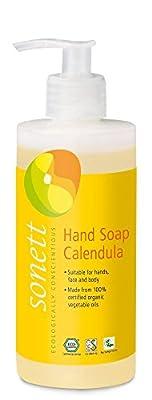 Sonett Organic Hand Soap Citrus, Lavender, Sensitive, Calendula, Rose and Foam Soap, 1 Count and 6 Count (Calendula, 1 Count)
