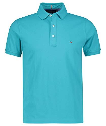 Tommy Hilfiger Herren Poloshirt Slim Fit Aqua (53) XL