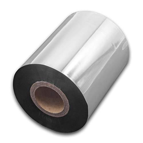 vhbw wischfest Thermotransfer-Band schwarz 80mm 300m passend für Drucker Etikettendrucker TSC TTP-343 Plus, TTP-344M Plus, TTP-345, TTP-346M, TTP-366M