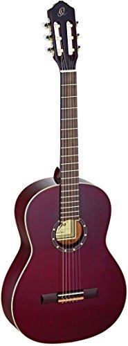 Ortega Guitars R131SN-WR Konzertgitarre in 4/4 Größe mit schmalem 48mm Hals transparent weinrot im hochglänzenden Finish hochwertigem Gigbag