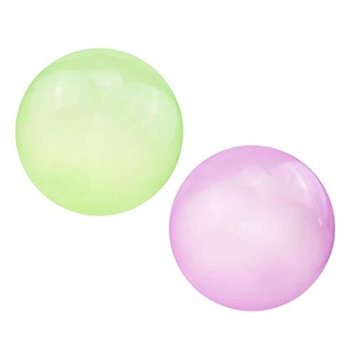 harayaa 2X Globo de Bola de Burbujas Firme Juguetes Elásticos Resistentes Al Desgarro para Adultos 70cm