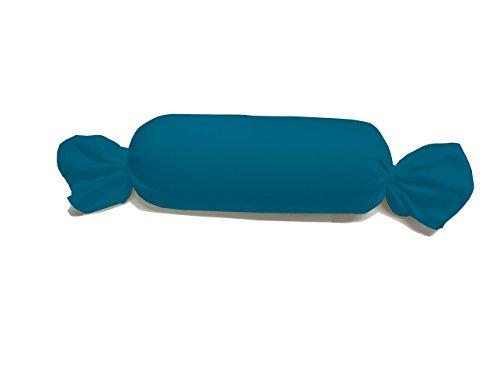 Dukal, Bezug für Nackenrolle 15 x 40 cm, in 40 Farben, Made IN Germany, Farbe: Petrol
