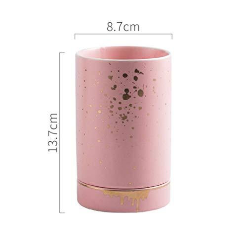 ZHNA Matte Glaze Tube céramique Chopstick, vidange Art de la Table Rack Cuisson à Haute température, Tube Multifonctionnel de Stockage de Bureau, décoration de la Maison (Color : B)