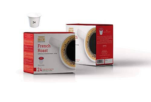 Dolché, Capsule di Caffè Americano miscela French Roast, K-cup compatibili Keurig 2.0 - Box 24 capsule
