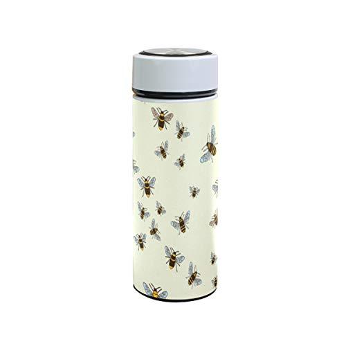 XiangHeFu waterfles buiten houdt koude of warme thermoskan Travel Mug Sports 12oz Leak Proof Animal Bees