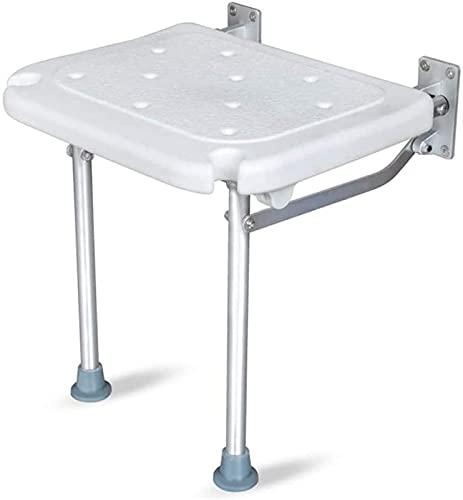 TUHFG Duschhocker Wandhalterung Falten Duschsitzbank mit verstellbaren Beinen und Duschwanne, für Schwangere Frau, Behindertengerechte Badezimmerhocker