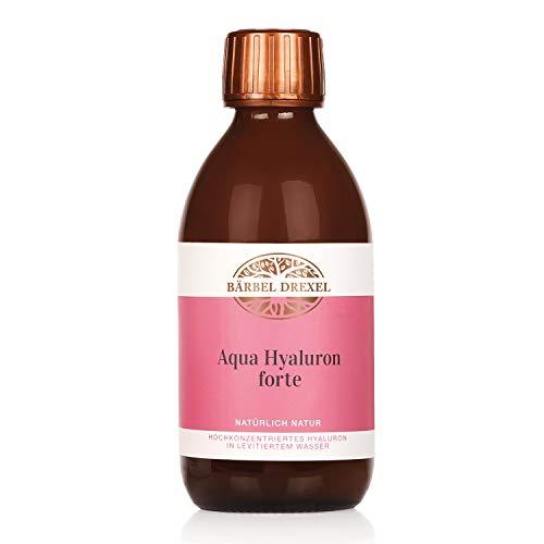 BÄRBEL DREXEL® Aqua Hyaluron Forte Beauty Drink + Collagen Hyaluronsäure hochdosiert (250ml) Hautbild Verfeinern Anti Aging 100% Vegane Herstellung Deutschland Vitamin C MSM