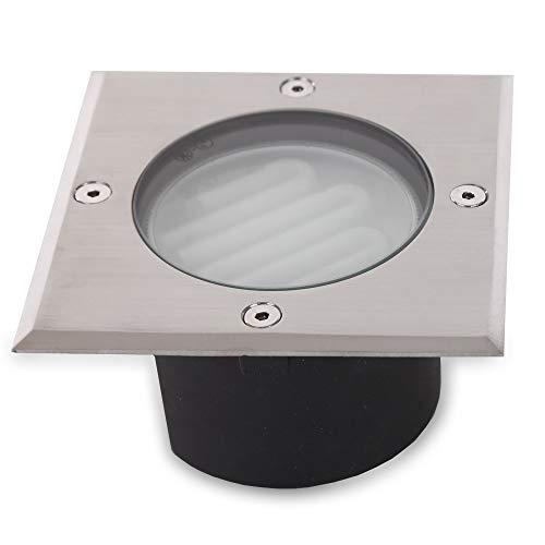 Spot Encastré avec Boîtier Aluminium, Plaque en Acier Inoxydable, Incl. GX53 1 X 9W