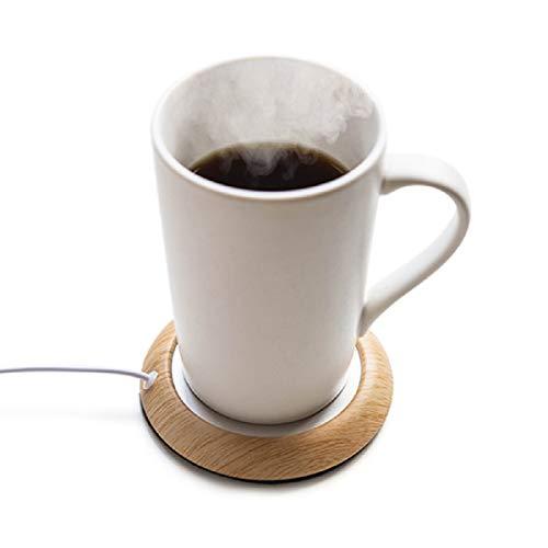 コースター 保温 USB お茶カップ 木目 オフィス用 温かい 飲み物用 コーヒーカップ ウォーマー 日本語説明書付き D314-C-BJ