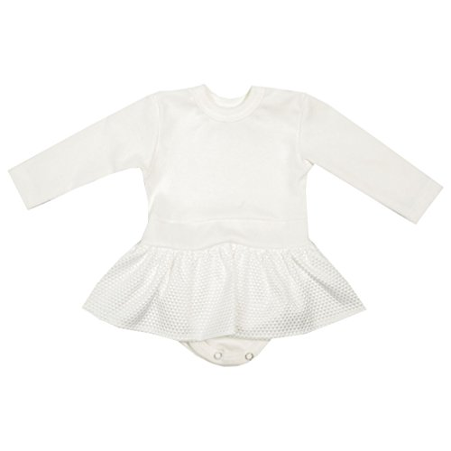 Unbekannt Body Kleid Taufkleid Babykleid Langarm Bodykleid Taufkleid Creme Ivory Celebration (56)