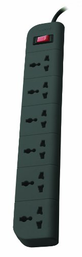 Belkin Essential Series 6-Socket Surge Protector Universal Socket with 6.5ft Heavy Duty Cable (Grey)