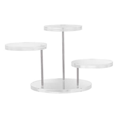 VilLCASE - Soporte de joyas de moda para pendientes, anillo, pulsera, collar, soporte acrílico, expositor de joyas multicapas, para tienda en casa