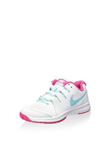 Nike Vapor Court (GS), Zapatillas de Tenis para Niñas, Blanco/Azul/Rosa (White/Copa-Vivid Pink), 38 1/2 EU