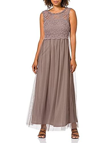 Vila Clothes Damen VILYNNEA Maxi Dress-NOOS Kleid, Fungi, 42
