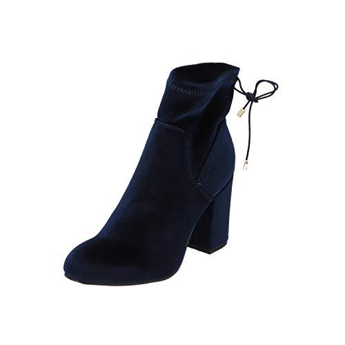 SPM Bendle Damen Stiefel Blau Schnür-Stiefelette Winter, Größe:EUR 41