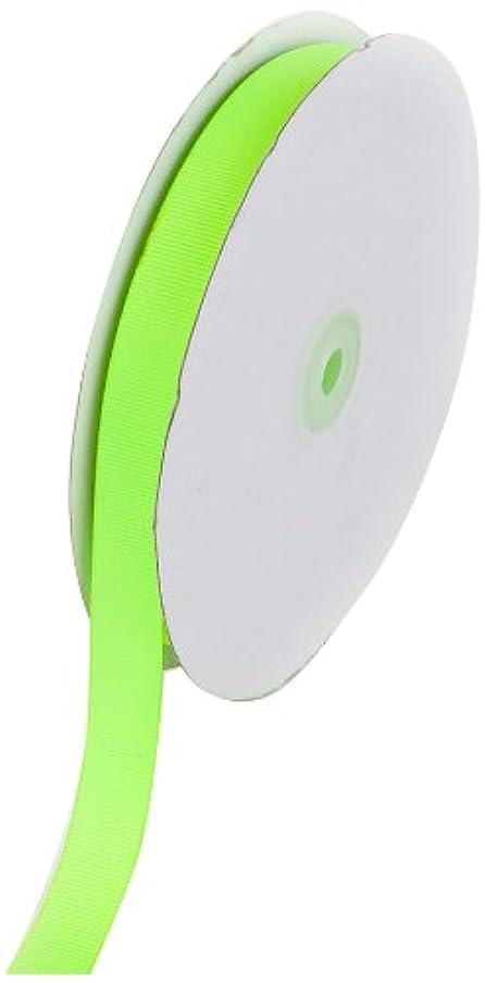 Creative Ideas 50-Yard Solid Grosgrain Ribbon, 5/8-Inch, Neon Green