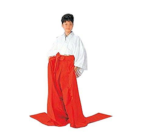 長袴 朱・緋赤(am7763) フリーサイズ 舞踊袴 はかま 袴 着物 きもの 松の廊下 忠臣蔵 古典 衣裳 衣装