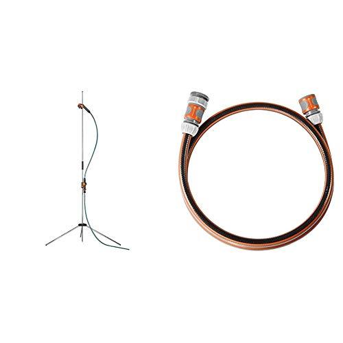 Gardena Gartendusche Trio: Dusche mit 2 Strahlarten & Anschlussgarnitur Comfort Flex 13 mm (1/2 Zoll), 1.5 m: Schlauchadapter zum Anschluss des Schlauchwagens, 25 bar Berstdruck