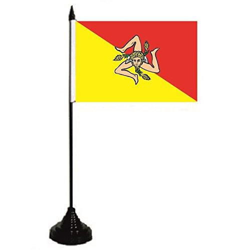 U24 tafelvlag Sicilië vlag tafelvlag 10 x 15 cm