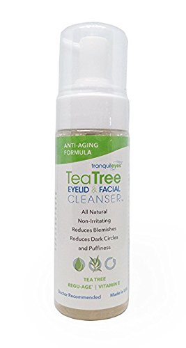 Anti-Aging Formula Tea Tree Eyelid and Facial Cleanser (180 mililiters) - Hydrating & Non-Irritating - Helps Reduce Dry Eye and Blepharitis Symptoms Caused by Demodex