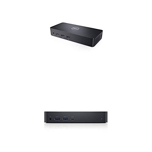 Dell USB 3.0 Ultra HD/4K Triple Display Docking Station (D3100) with Dell 452-BCYT D6000 Universal Dock, Black