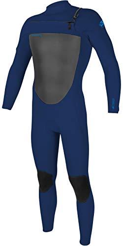O'Neill Epic - Traje de neopreno para hombre con cremallera en el pecho, 3/2 mm, color azul marino, LS