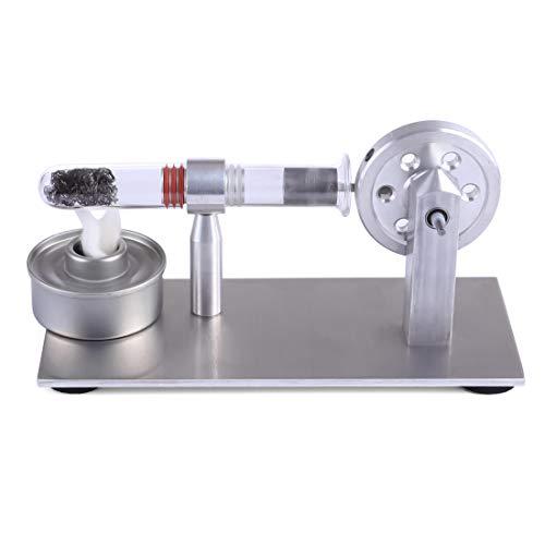 TETAKE Stirlingmotor - Single Zylinder Stirlingmotor Bausatz Stirling Engine Kit Physik Experimentieren Unterricht für Kinder Schüler Lehrer