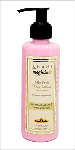KHADI MEGHDOOT Papaya and Aloe-Vera Mix Fruits Body Lotion (210ml)