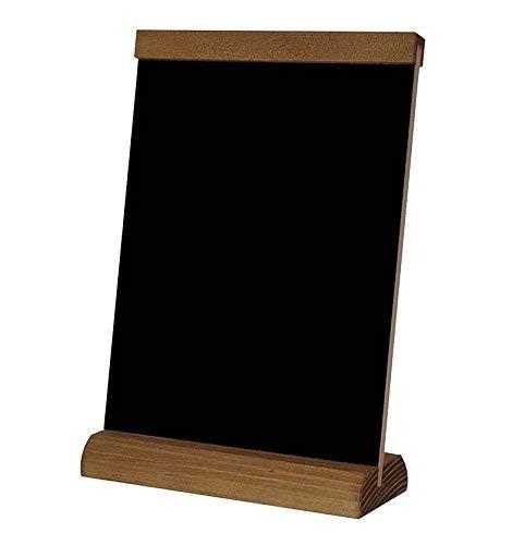 A4 Speisetafel Tischaufsteller beidseitig beschreibbar Werbetafel Holztafel Kreidetafel (4)