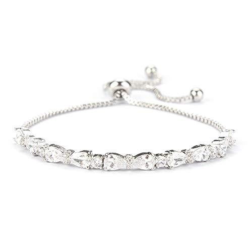 siqiwl Pulsera de moda ajustable de novia pulseras platinumPlated