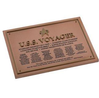 Star Trek - U.S.S. Voyager Dedication Plaque