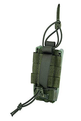 Rapid Access 9mm Pistol Magazine Pouches Quick Release Single Mag Pouch (OD)